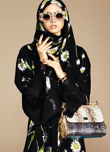 Hidżab i abaja, kolekcja Dolca & Gabbana