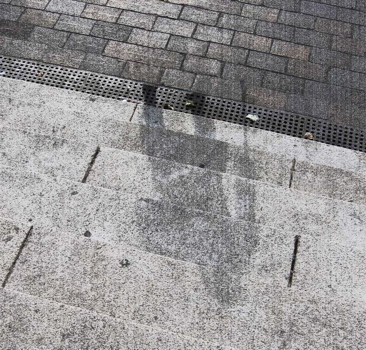 A shadow remains at Hiroshima after people were literally vaporized after the US dropped an atomic bomb on the city, brining an end to WWII