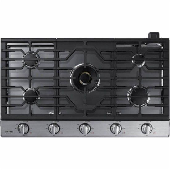 """Samsung - 36"""" Gas Cooktop - Stainless Steel - Front_Zoom"""