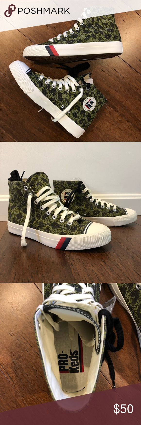 Camouflage Leopard Print High Top Pro Keds Men's Camouflage Leopard Print High Top Pro Keds  M: Size 9 / W: Size 10.5   Never Worn Keds Shoes Sneakers