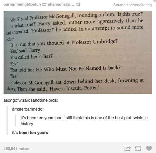 "When they highlighted the ultimate plot twist. | 29 Times Tumblr Raised Serious Questions About ""Harry Potter"""