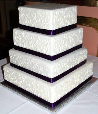 black and white square wedding cakes