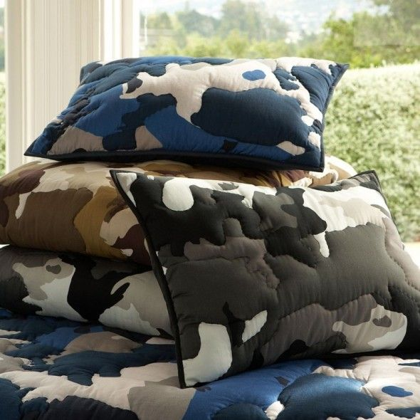 Camoulflage Quilt For Boys Bedroom Decoration