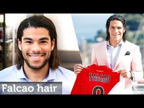 Hair Like Radamel Falcao ★ Long Football Hairstyle For Men ★ Permanent Straightening - YouTube