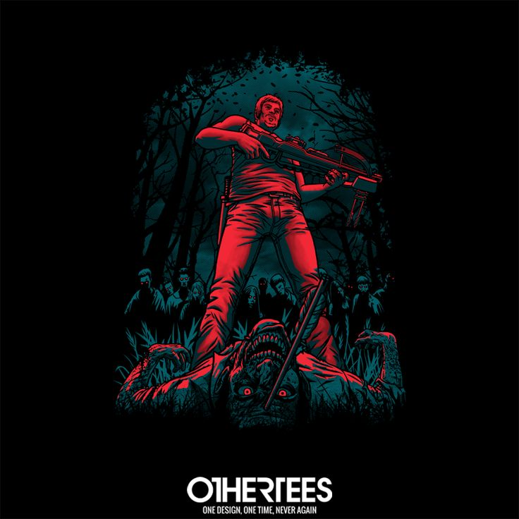 """Hunter"" by Fuacka T-shirts, Tank Tops, Sweatshirts and Hoodies are on sale until 18th December at www.OtherTees.com Pin it for a chance at a FREE TEE #TWD #TheWalkingDead #AMC #Daryl #DarylDixon #OtherTees #zombie"