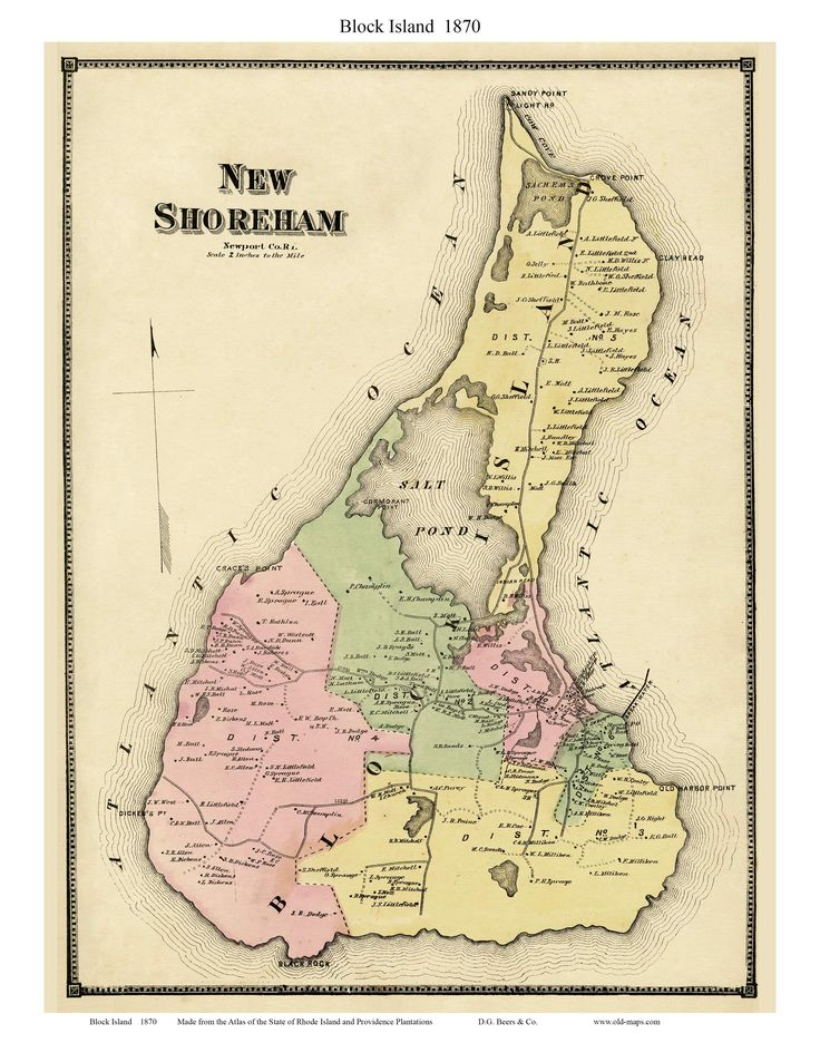 Rhode Island Topographic Map
