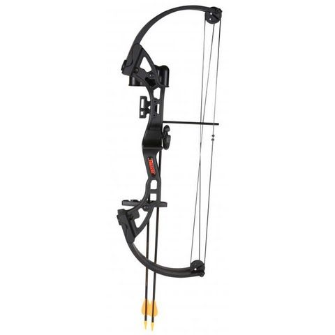 Fred Bear Archery Youth Brave Bow With Whisker Biscuit Arrow Rest - Black: Fred Bear Archery`s Brave Bow Set… #OutdoorGear #Camping #Hiking