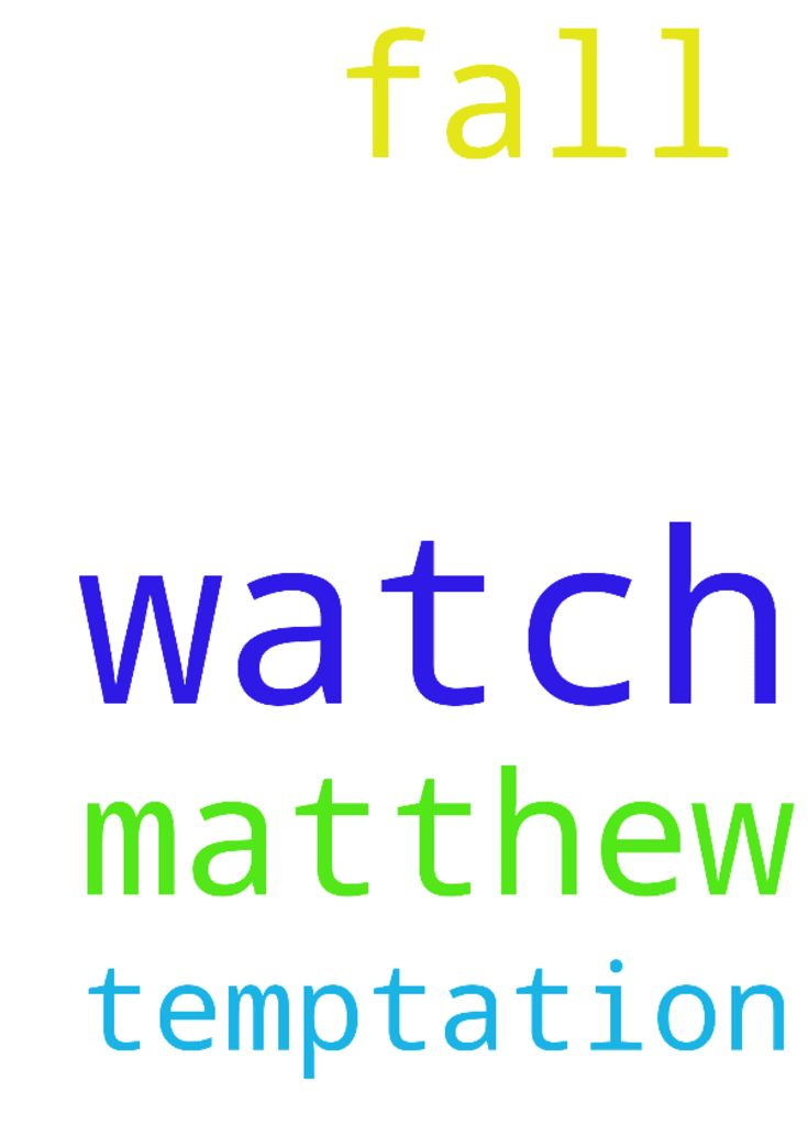 WATCH N PRAY!!!!! -  Matthew 26 v 41..Watch and Pray so that you will not fall into Temptation...... Posted at: https://prayerrequest.com/t/Eer #pray #prayer #request #prayerrequest