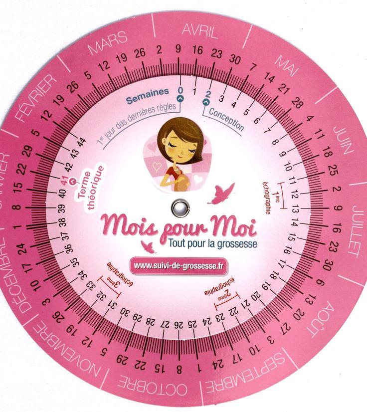 www.mois-pour-moi.fr  #roulette #disque #grossesse #Moispourmoi #calcul #terme #boutique #santé #enceinte
