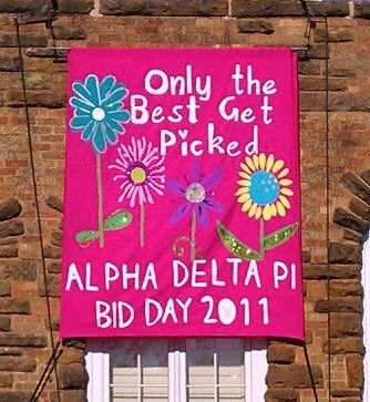 Banners / Posters   Alpha Delta Pi   Only the best get picked #greek #sorority #recruitment