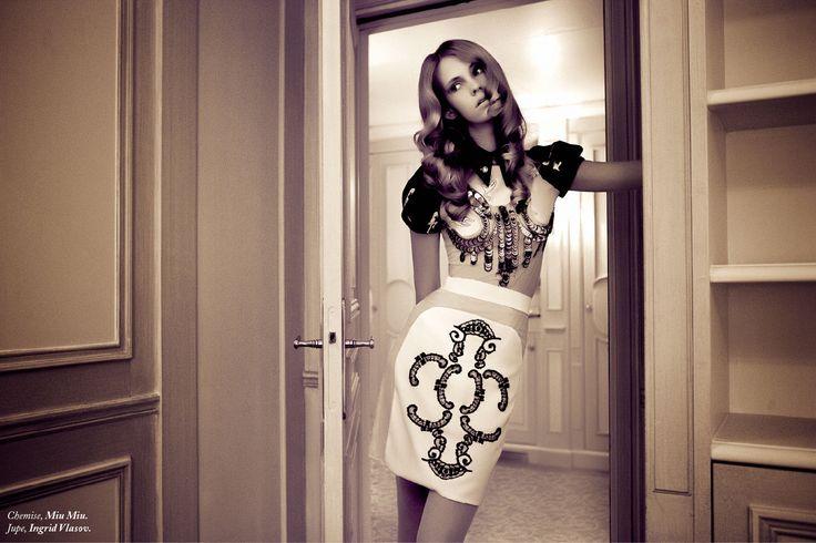 Ingrid Vlasov skirt ,folklore inspiration,black lace,fashion editorial