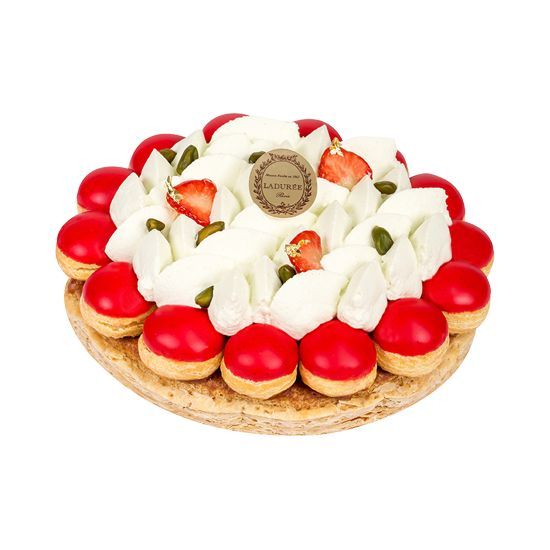 STRAWBERRY PISTACHIO SAINT HONORE 4 to 10 servings