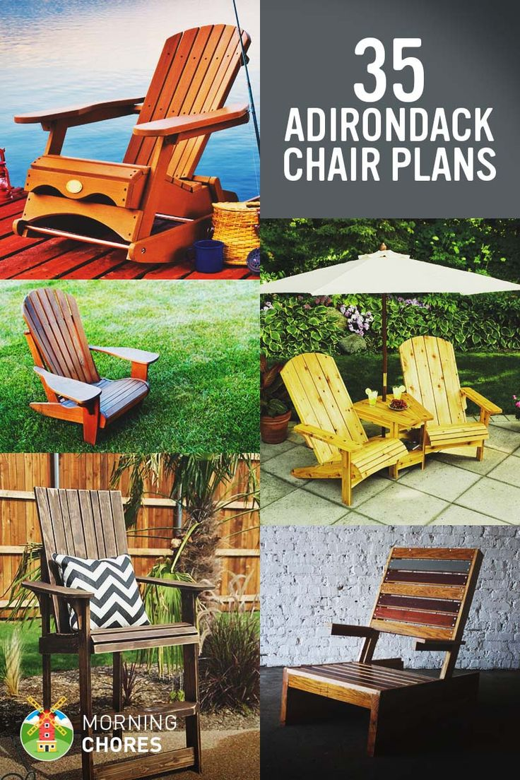 35 Free DIY Adirondack Chair Plans