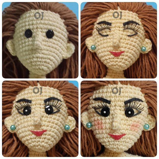 Amigurumi Doll Nose : 234 best images about ?????? ??? ??????? on Pinterest ...