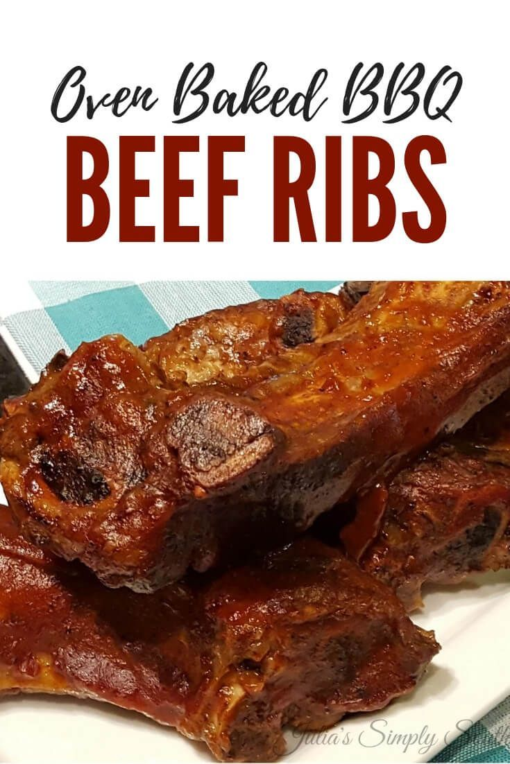 Oven Baked Bbq Beef Ribs Recipe Beef Ribs Baked Beef Ribs Beef Ribs Recipe