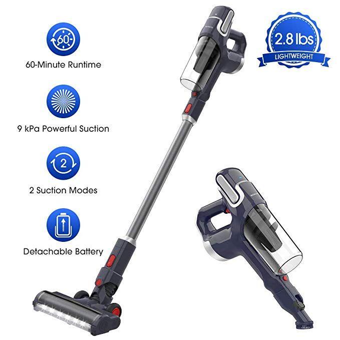 Amazon Com Novete Cordless Vacuum Cleaner 2 In 1 Powerful Stick Handheld Vacuum With Samsung Removable Battery Vacuum Cleaner Stick Vacuum Cordless Vacuum