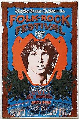 The Doors...Northern California Folk-Rock Doors Poster