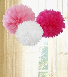 Pom Pom Set - rosa, pink, weiß, 8,95 €