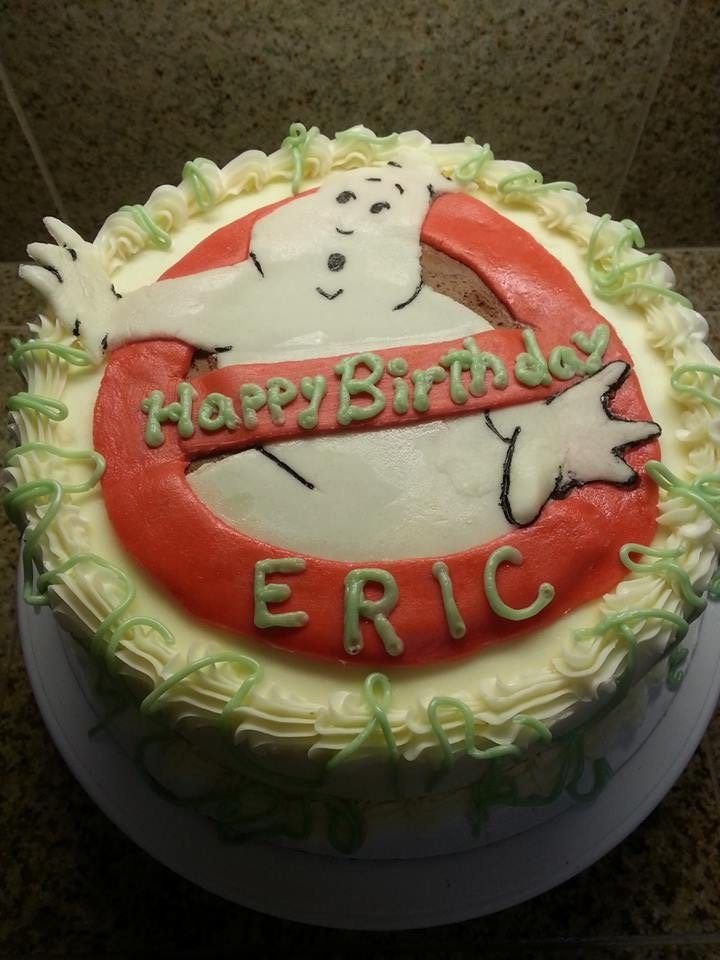 Ghostbusters Happy Birthday Cake