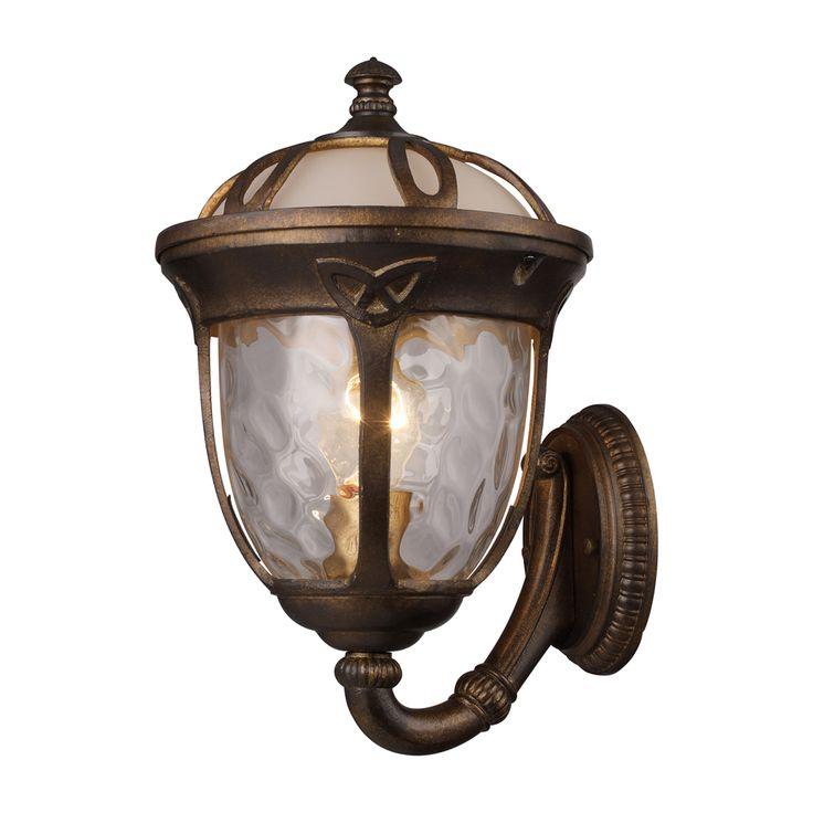 Elk Lighting Windsor 1 Light Outdoor Sconce In Hazelnut Bronze