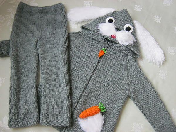 tavsanli el orgusu bebek cocuk ceketi ve pantolon takimi (3)