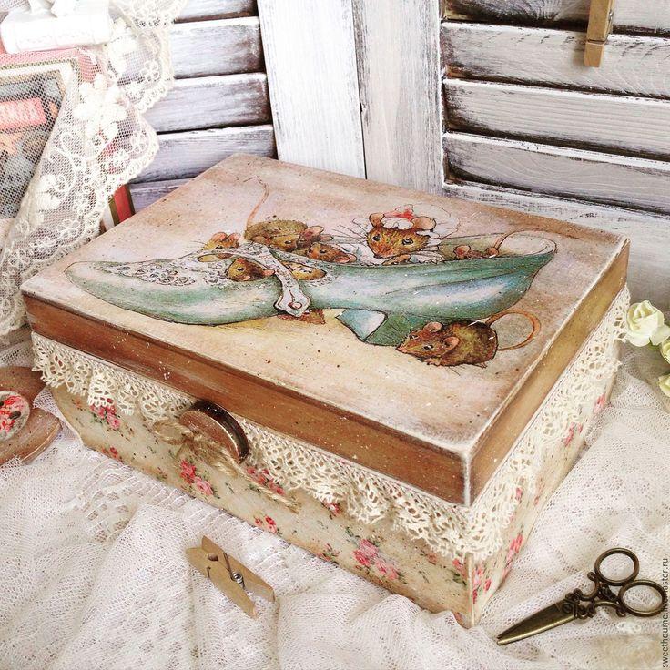 Купить Шкатулка для рукоделия. - шкатулка, шкатулка ручной работы, для рукоделия, хранение, хранение мелочей, для украшений
