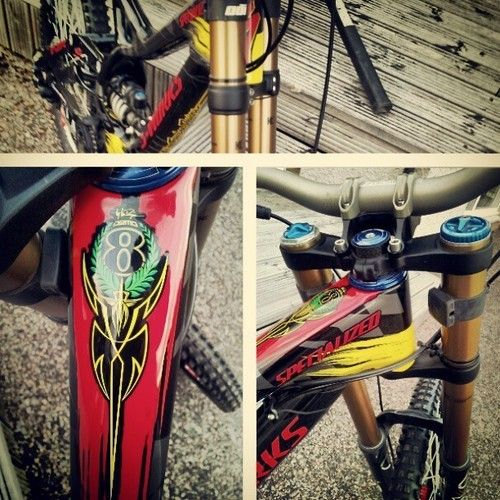 Aaron Giwin's Troy Lee Design Specialized Demo 8 for Fort William