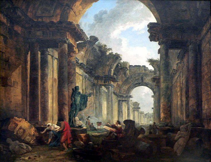 Vue imaginaire de la galerie du Louvre en ruine - Musée du Louvre.Hubert Robert — Travail personnel