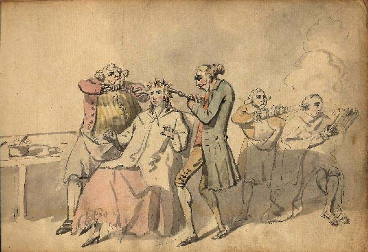 Hairdressers Curling Woman's Hair, Charles Catton, 1780s