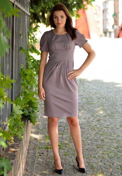 Sukienka Beż, Róż  FSU237