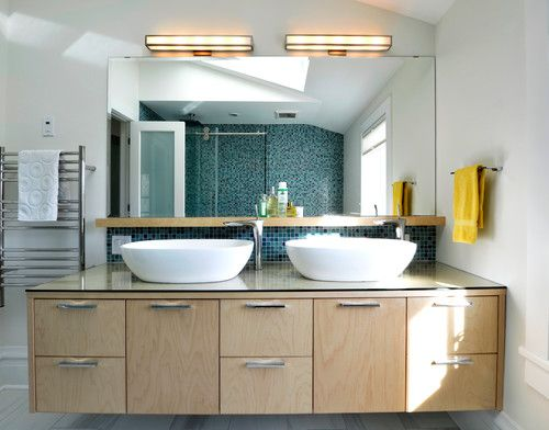 Birchply - A solid weatherproof plywood Contemporary Bathroom by Ottawa Design-Build Firms Sandy Hill Construction Ltd.