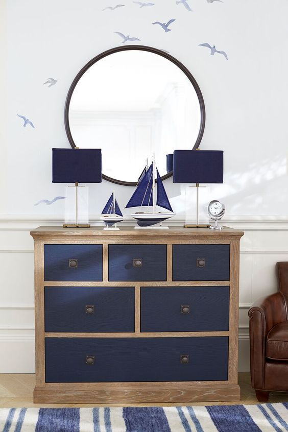 What kid wouldn't love a nautical-themed bedroom? This dresser from the Pottery Barn Kids collection helps complete the look, featuring simple lines, antiqued pulls and seaside style.