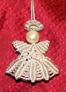 DIY Macrame Christmas Angel Ornament