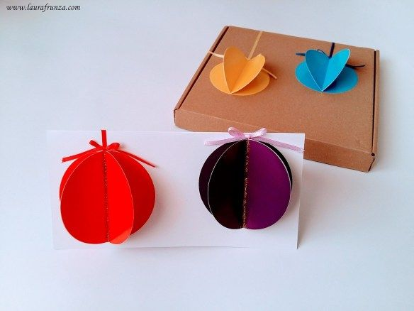Paper baubles card and box
