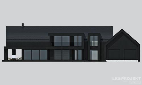 Projekty domów LK Projekt LK&1324 elewacja 1