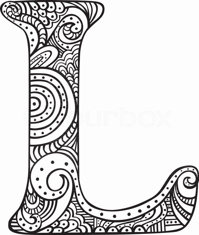 Letter L Coloring Pages Lovely Hand Drawn Capital Letter L In Black Coloring Sheet For In 2020 Alphabet Coloring Pages Alphabet Coloring Coloring Pages