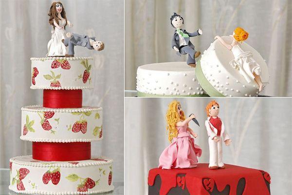 Оригинальные торты для празднования развода. (9 фото)