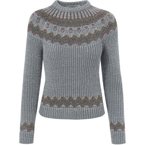 102 best FAIR ISLE SWEATER images on Pinterest | Arm knitting ...