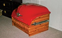 1950 Oldsmobile cedar chest from Car and Driver's 10 Best Car Parts for Home Decor.