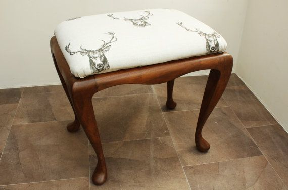 Gorgeous vintage piano/dressing table stool by SeeingBetterDays