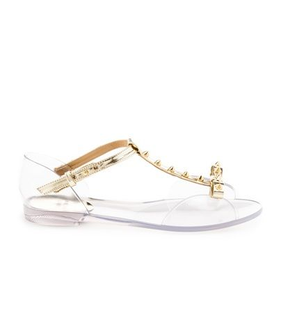 NIFTY   Stuart Weitzman #alittleobsessedwithshoes #clear #shoes #sandals