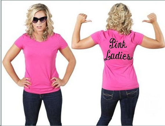 Grease Pink Ladies Shirt - can make this with fabric paint