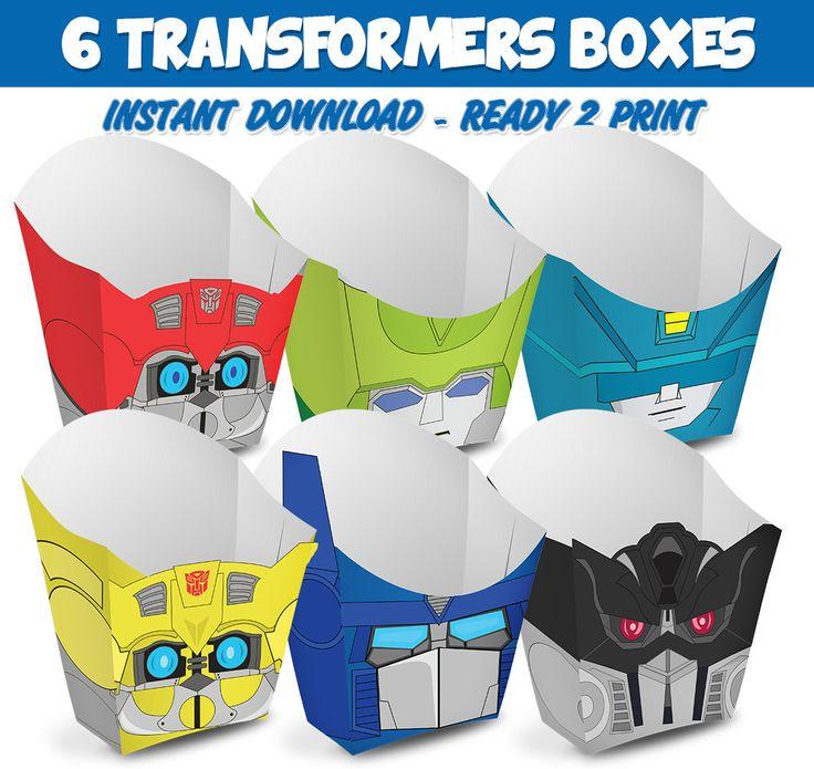 6 Popcorn Box Transformers de Migueluche en Etsy
