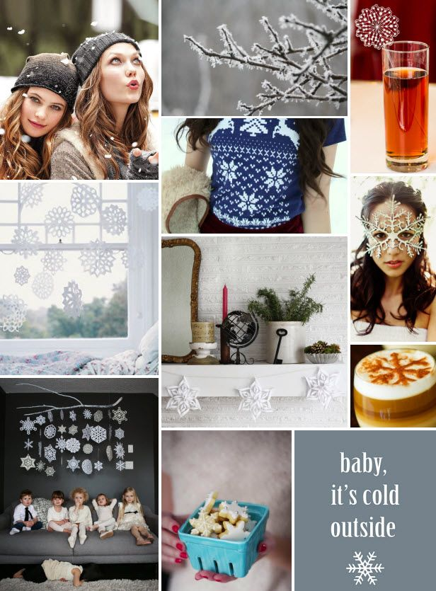 Mood Board Monday: Snowflakes (http://blog.hgtv.com/design/2014/01/06/mood-board-monday-snowflakes/?soc=pinterest): Blog Design, Healthy Recipe, Gym Ideas, Design Blog