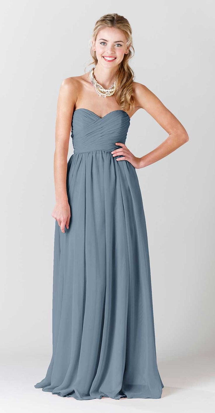 Best 25 strapless bridesmaid dresses ideas on pinterest blush a long chiffon strapless bridesmaid dress in stunning slate blue olivia chiffon bridesmaid dress ombrellifo Choice Image