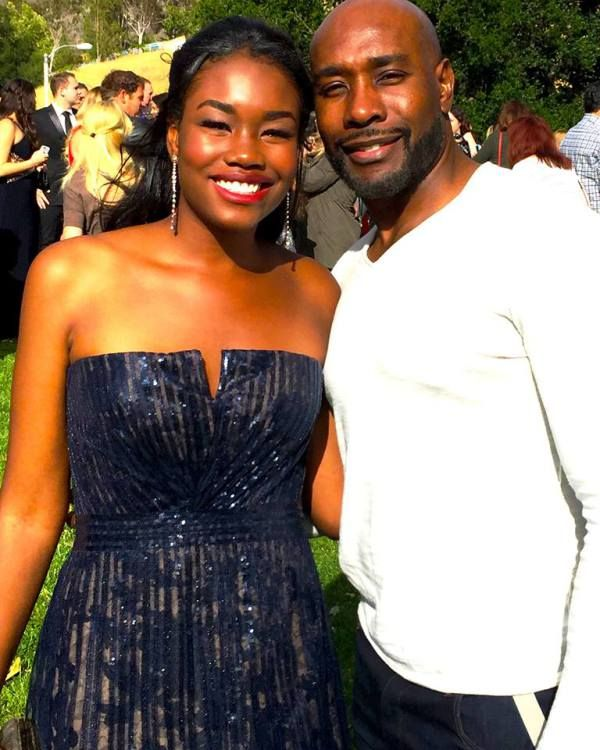 Morris Chestnut with his daughter.