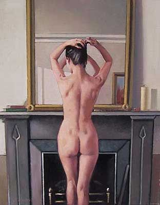 Jack Vettriano Model at Mirror oil painting for sale