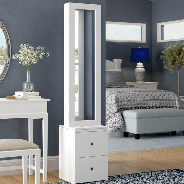 You Ll Love The Simmerman Swivel Jewelry Armoire In White At Wayfair Great Deals On All Furniture Products With Free Shipping Schmuckschrank Mobelideen Haus