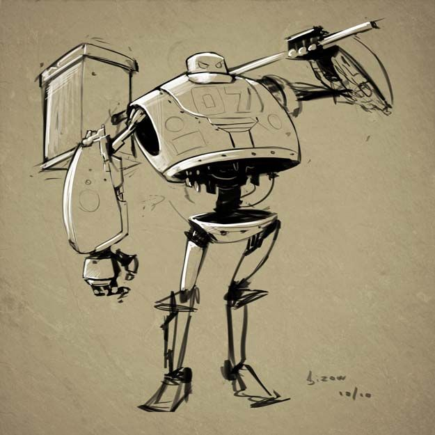 Графика приколы картинки робот с автоматами
