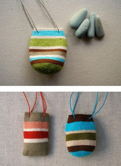tiny crochet medicine bags